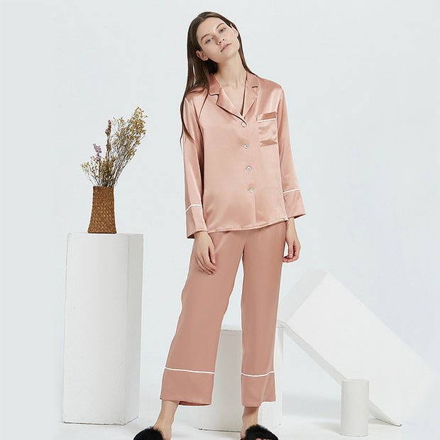 22 Momme High Quality Classic Long Silk Pajamas Set  | Multi-Colors Selected