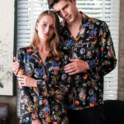 22 Momme Comfy Printed Silk Couple Pajamas Sets
