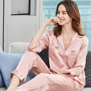 22 Momme Romantic Long-sleeved Silk Couple Pajamas Sets