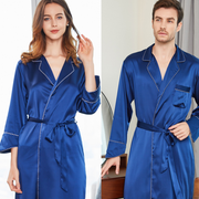 22 Momme Belted Matching Silk Couple Homely Robes