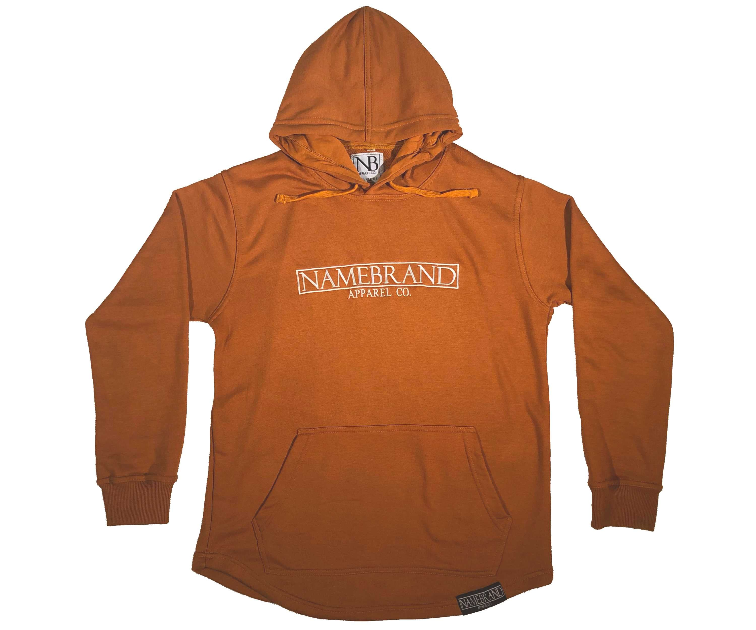 Tan Embroidered Box Hoodie