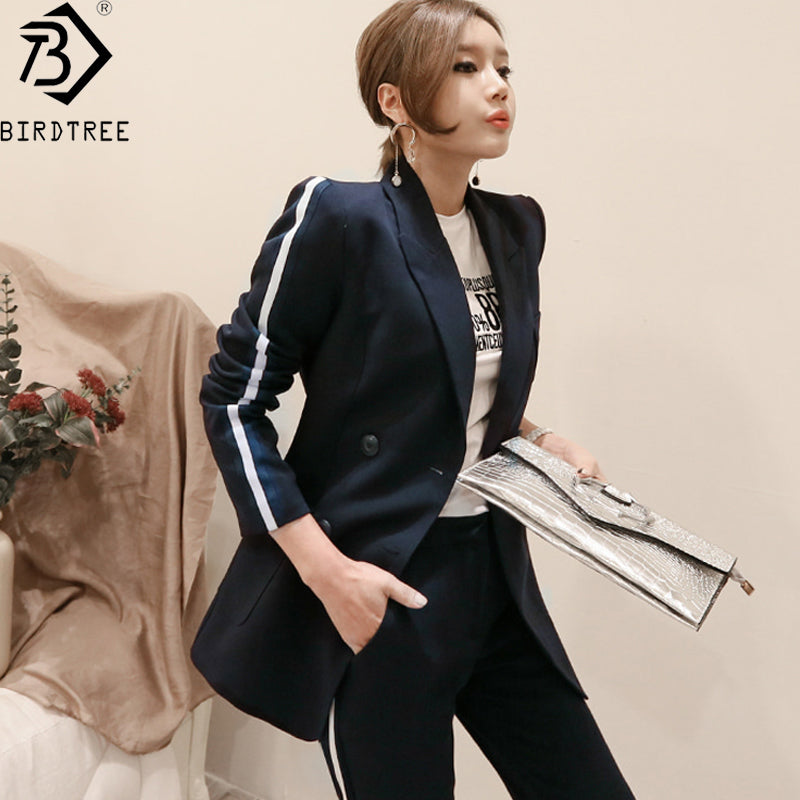 2 Piece Office Suits For Women 2018 Summer New Slim Office Lady Suit