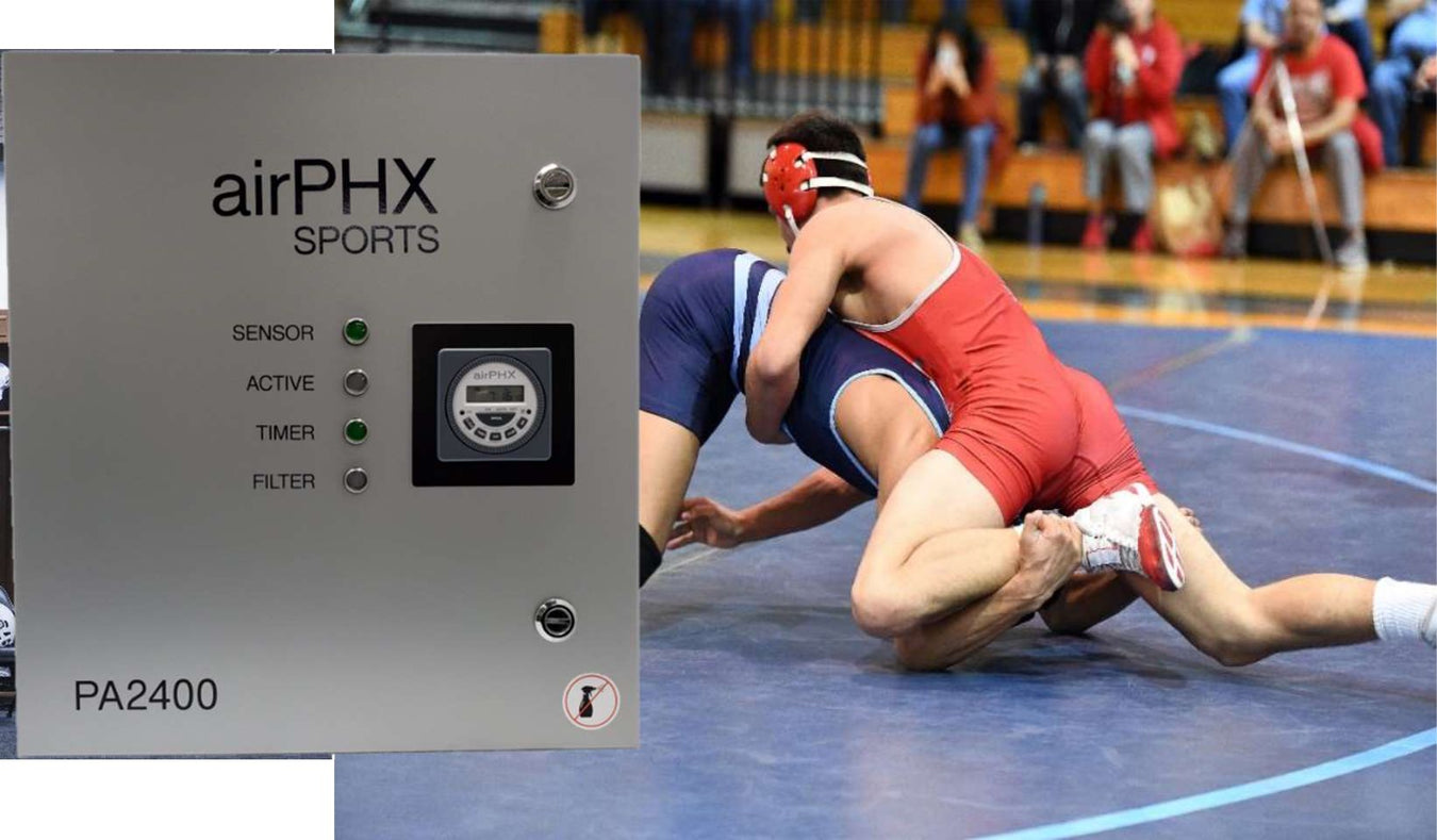 Image of airPHX unit and wrestling