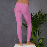 back view of women's pink workout leggings