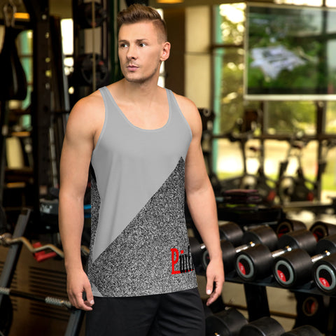 man wearing three tone tank top shirt
