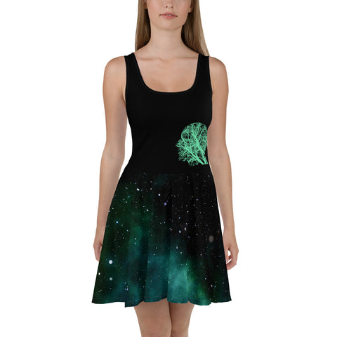 Women's PurFit Headspace dress with space print and head