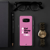 Eat Sleep Cat Repeat BPA Free Protective Samsung Phone Case