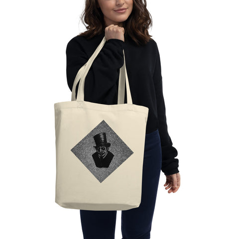 womens canvas tote bag mysterious gentleman