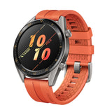 Huawei GT Smartwatch with a orange band