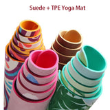 Eco-Friendly 6 MM Non-Slip Lotus Pattern Suede TPE Yoga Mat