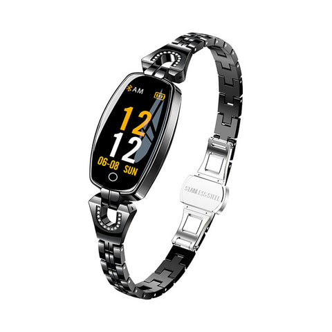 Small faced black colored smartwatch