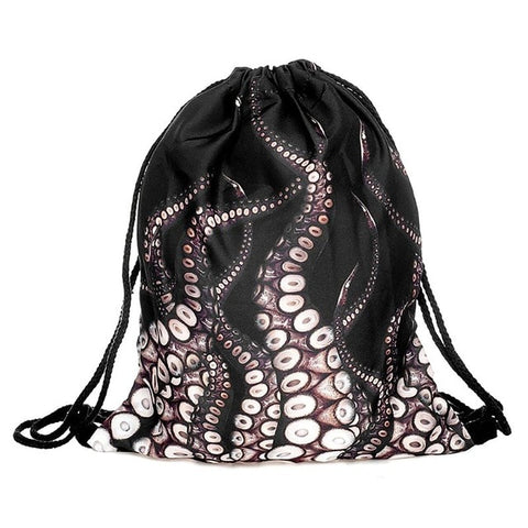 Artistic Polyester Drawstring Backpack