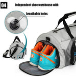 IX - Waterproof Gym/Duffle Bag with a Pocket for wet Towels