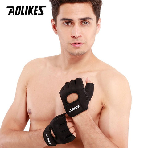 Aolikes - Anti-Slip Weightlifting Gloves
