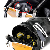 Hot Top PU Leather Outdoor Sports Gym Shoulder Bag with a Shoe Pocket