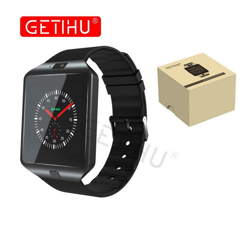 black smartwatch with box
