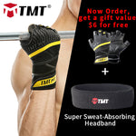 TMT fit - Genuine Leather Son-Slip Gym Gloves