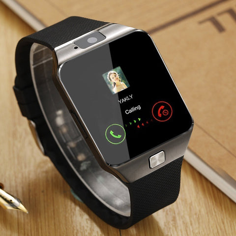 Square black and gray making a call Smartwatch