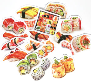 Sushi Sticker Set (17 pieces)