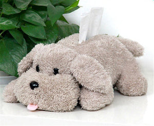 Plush Dog Tissue Box Cover