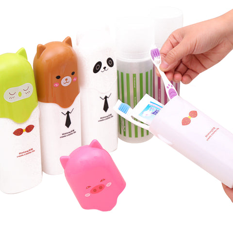 Portable Animal Toothbrush Case