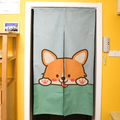 Cute Animal Door Curtains