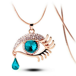 Necklace Eye and Tear Drop Pendant