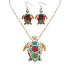 Load image into Gallery viewer, Sea Turtle Hippie Pendant Set
