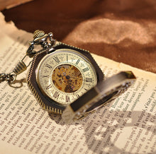 Load image into Gallery viewer, Pocket Watch Golden Treasure Mechanical