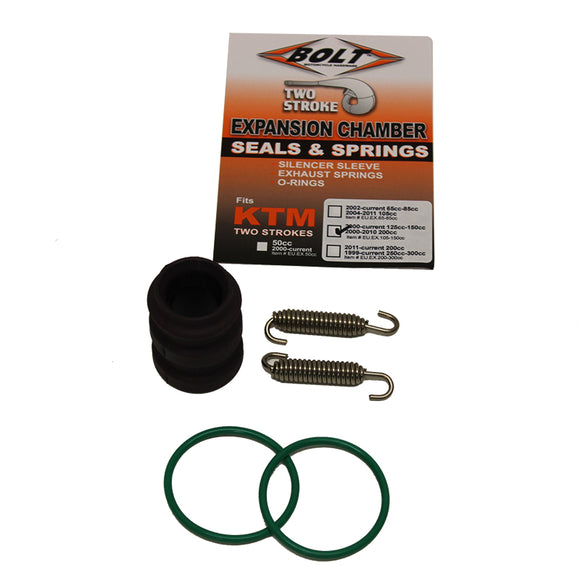BOLT EXHAUST O-RING PACK KTM 105-150 00-