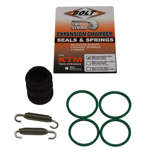 BOLT EXHAUST O-RING PACK KTM 65-85 02-