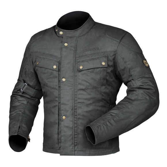 DRIRIDER BROOKLANDS CLASSIC WAX JACKETS - BLACK