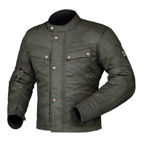 DRIRIDER BROOKLANDS CLASSIC WAX JACKETS - BROWN