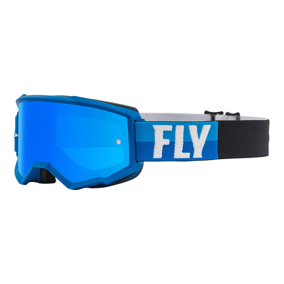 Fly 2021 Zone Goggle - Blue / Black with Blue Mirror / Smoke Lens
