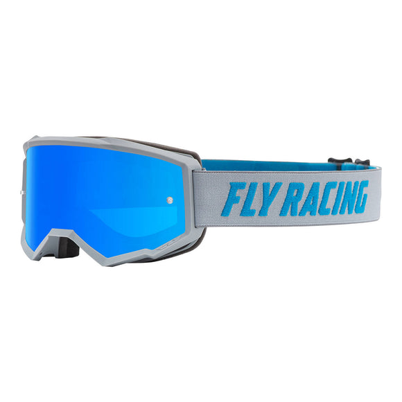 Fly 2021 Zone Youth Goggle - Grey / Blue with Blue Mirror / Smoke Lens