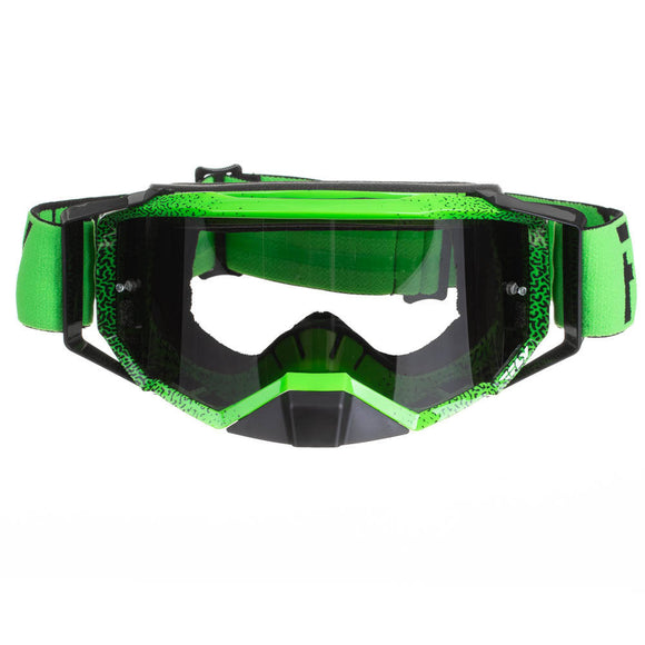 FLY GOGGLE '20 ZONE PRO BLK/GREEN DARK SMOKE LENS