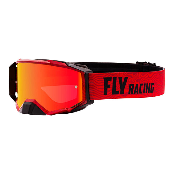 FLY ZONE PRO GOGGLE RED/BLACK w/ RED MIRROR/AMBER LENS