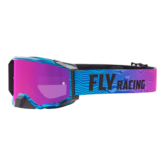 FLY ZONE PRO GOGGLE PINK/BLUE w/ PINK MIR/SMOKE LENS