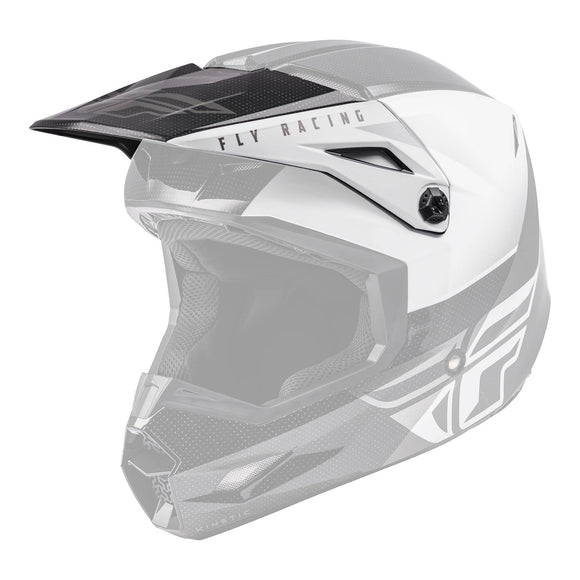 Fly 2021 Kinetic Straight Edge Helmet Peak - Black / White
