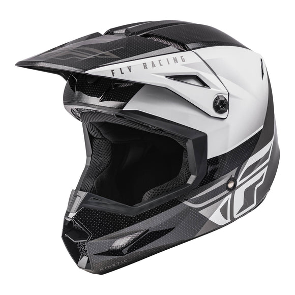 Fly 2021 Straight Edge Kinetic Youth Helmet - Black / White