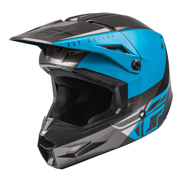 Fly 2021 Straight Edge Kinetic Youth Helmet - Blue / Grey / Black