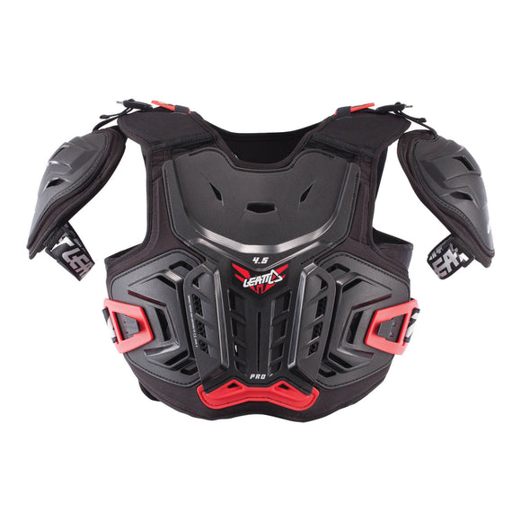 LEATT 2017 4.5 PRO CHEST PROTECTOR - BLACK / RED