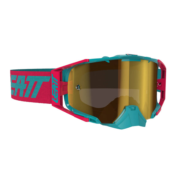 LEATT GOGGLE VELOCITY 6.5 IRIZ RED/TEAL - BRONZE LENS