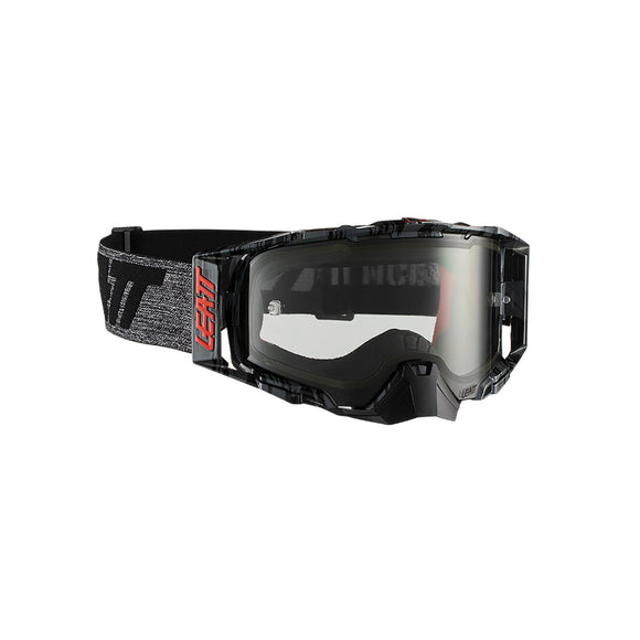 LEATT GOGGLE VELOCITY 6.5 BRUSHED/GRY - LIGHT GREY LENS