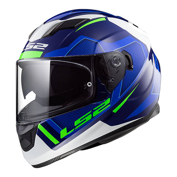 LS2 FF320 STREAM HELMET - AXIS WHITE / BLUE