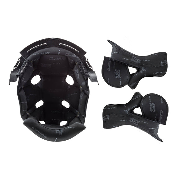 LS2 MX470 SUBVERTER LINER/CHEEK PAD SET BLACK 2XL