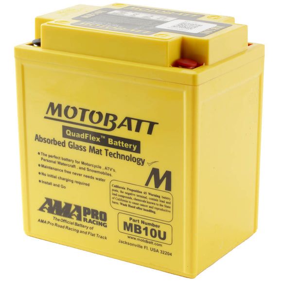 MB10U MOTOBATT QUADFLEX BATTERY (4PCS/CTN)