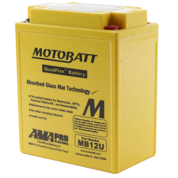 MB12U MOTOBATT QUADFLEX BATTERY (4PCS/CTN)