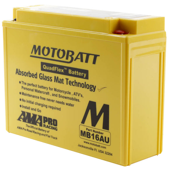 MB16AU MOTOBATT QUADFLEX BATTERY (4PCS/CTN)
