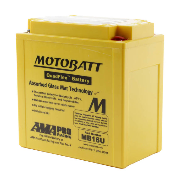 MB16U MOTOBATT QUADFLEX BATTERY (4PCS/CTN)